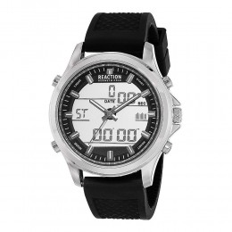 Kenneth Cole Reaction Black & Silver Mens Gents Wrist Watch RK50552002