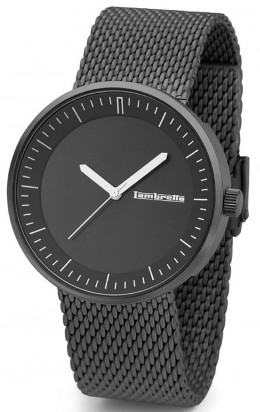 Lambretta Mens Gents Wrist Watch Franco Mesh Black 2165BLA
