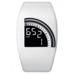 ODM Quadtime Unisex Mens Womens LCD White Wrist Watch with LCD Digital