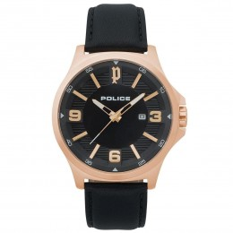 Police Mens Gents Clan Quartz Wrist Watch 15384JSR/02