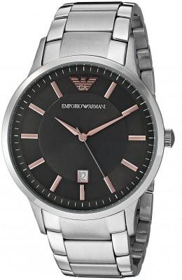 Emporio Armani Mens Watch Stainless Steel Bracelet Dark Grey Dial AR2514