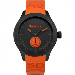 Superdry Mens Gents Orange Sports Wrist Watch SYG212OB