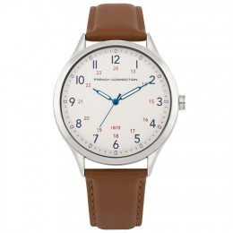 French Connection Brown Mens Gents Wrist Watch FC1287T