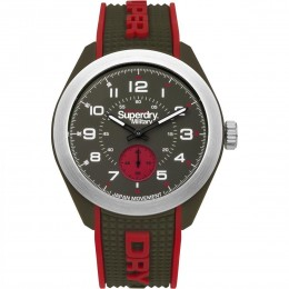 Superdry Mens Analogue Quartz Watch with Silicone Strap SYG214N