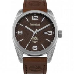 Timberland Mens Gents Jaffery Wrist Watch Brown Leather Strap15258JS/12