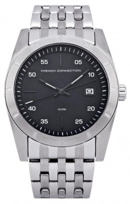 French Connection Mens Gents Stainless Steel Wrist Watch Black Face FC1159BM A