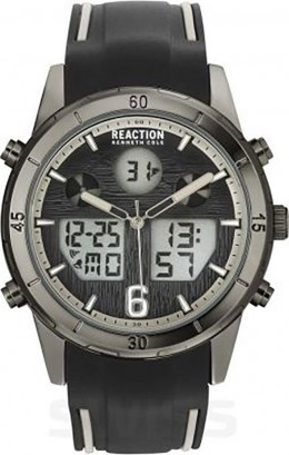 Kenneth Cole Reaction Black & Grey Mens Gents Wrist Watch RK50604004