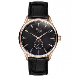 Cerruti 1881 Mens Gents Black & Gold Designer Wrist Watch CRA24002