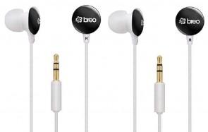Breo Candy CD7 Black Candy Drop Headphones 2 Pack