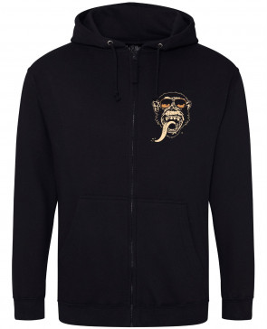 Gas Monkey Garage Retro Shades Mens Gents Black Zip Hoodies