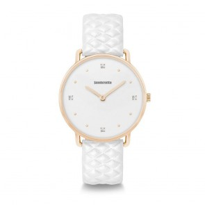 Lambretta Ladies Womens Giulia 34 Dodici Quilted Gold White Wrist Watch 2265WHI