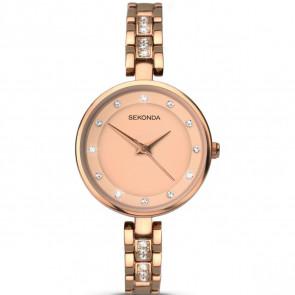 Sekonda Ladies Womens Wrist Watch Rose Gold Dial Rose Gold Strap 2385