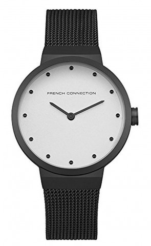 French Connection Womens Ladies Wrist Watch  Black Strap White Face FC1291BBM