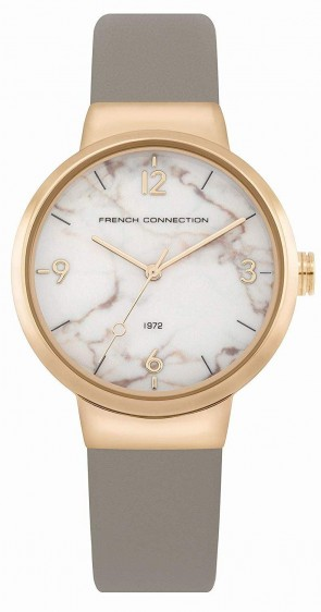 French Connection Grey Gold Ladies Womens Wrist Watch FC1291E