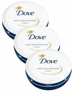 Dove Ladies Womens 150ml Rich Nourishment Cream Pot 3 Pack