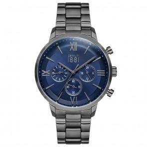 Cerruti 1881 Mens Gents Gunmetal & Silver Designer Wrist Watch CRA23409
