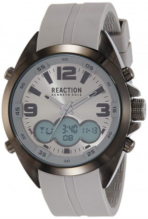 Kenneth Cole Reaction Grey & Silver Mens Gents Wrist Watch RK50488018