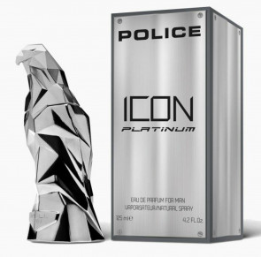 Police Icon Platinum 125ml EDP Mens Gents Aftershave Cologne Fragrance