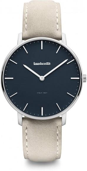 Lambretta Classico 40 Silver Blue Suede Grey Mens gents Wrist Watch 2223GRA