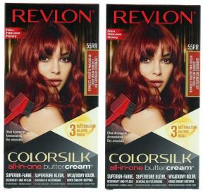 Revlon Ladies Womens Colorsilk Buttercream Vivid Color Intense Red 55R 2 PACK