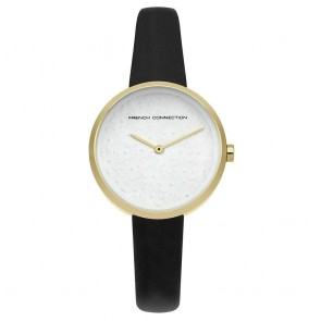 French Connection Black & Gold Ladies Womens Wrist Watch  FC1295BG