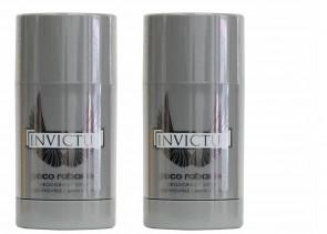 Paco Rabanne Mens Gents Invictus Deodorant Stick 75 ml 2 Pack