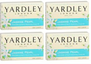Yardley Mens Womens 120g Jasmine Pearl Soap Boxed 4 Pack