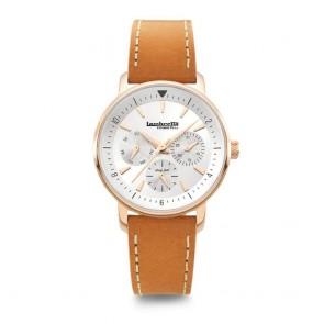 Lambretta Imola 36 Rose Gold Silver Leather Tan  Ladies Womens Wrist Watch 2212SIL