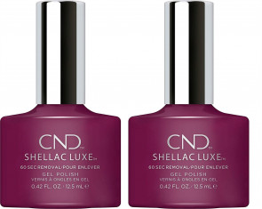 CND SHELLAC LUXE Ladies Womens Nail Polish Varnish Vivant 2 Pack