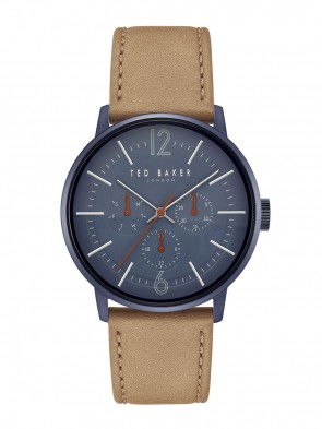 Ted Baker Blue Brown Mens Gents Wrist Watch TE15066006