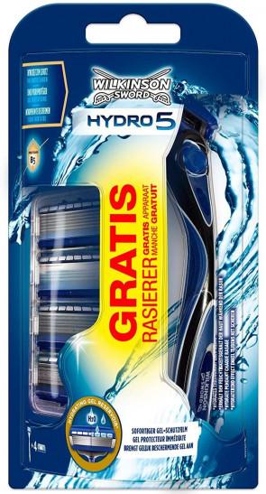 Wilkinson Sword Mens Gents Hydro 5,4 Blades and Razor
