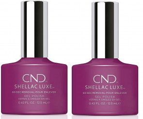 CND SHELLAC LUXE Ladies Womens Nail Polish Varnish Brazen 2 Pack