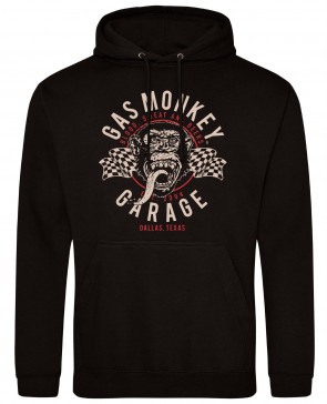 Gas Monkey Garage Twin Flags Mens Gents Black Hoodies