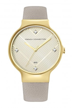 French Connection Grey & Gold Ladies Womens Wrist Watch FC1329E