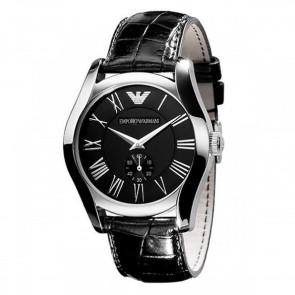 Emporio Armani Ladies Watch Black Leather Strap Black Dial AR0644