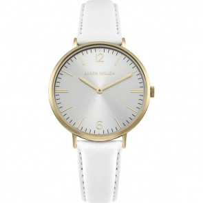Karen Millen Womens Ladies Wrist Watch White Strap KM163WG