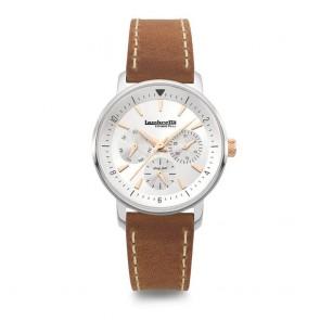 Lambretta  Imola 36 Silver Leather Brown Ladies Womens Wrist Watch 2210SIL2