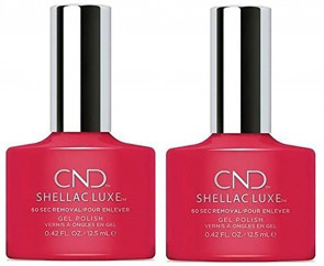 CND Shellac Luxe Ladies Womens Nail Polish Varnish Wildfire 2 Pack