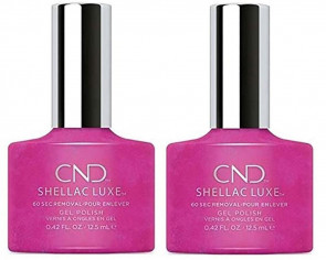 CND SHELLAC LUXE Ladies Womens Nail Polish Varnish Magenta Mischief 2 Pack