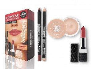 Bellapierre Cosmetics Lip Contour and High Lighting Kit - Nude (Pack of 4)
