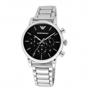 Emporio Armani Men's Chronograph Watch Stainless Steel Bracelet Black Dial AR1853