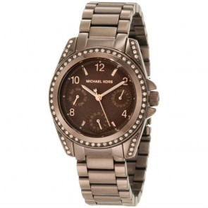 Michael Kors Womens Ladies Blair Bronze Wrist Watch Gold Tone MK5614