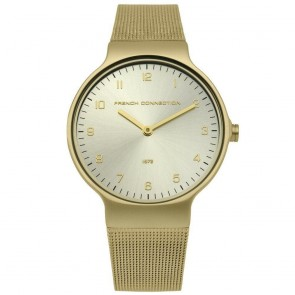 French Connection Gold Ladies Womens Wrist Watch FC1301GM