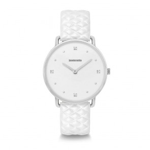 Lambretta Ladies Womens Giulia 34 Quattro Quilted Silver White Wrist Watch 2269WHI