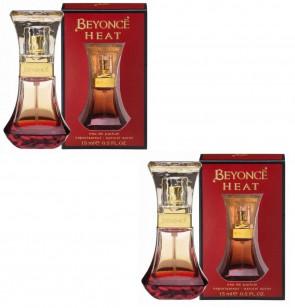 Beyonce Ladies Womens Heat 15ml EDP Fragrance Perfume 2 Pack