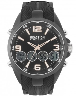 Kenneth Cole Reaction Black Mens Gents Wrist Watch RK50276007