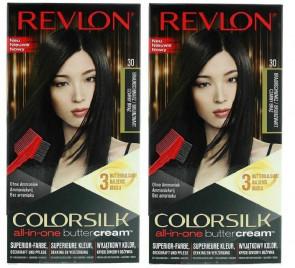 Revlon Ladies Womens Colorsilk Buttercream Lasting Brown Black Hair Colour 20N 2 Pack