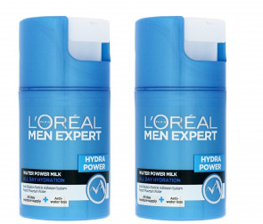 L'OREAL GENTS MEN EXPERT HYDRA POWER WATER POWER MILK 50ML 2 PACK