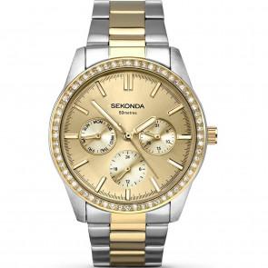 Sekonda Ladies Womens Watch Gold Silver Strap Gold Dial 2160