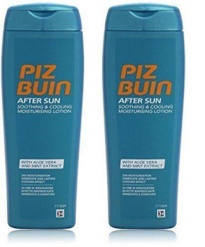 Piz Buin After Sun Soothing & Cooling Moisturising Lotion 200ml 2 PACK